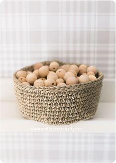 Linen twine baskets - by Craft & Creativity