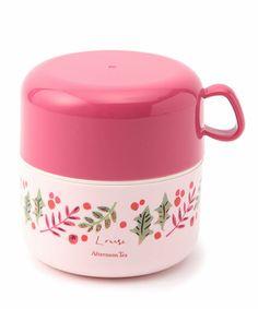 キッチン(キッチン)のDF98 カップ付きランチボックス(お弁当箱) (キッチンツール)|ピンク