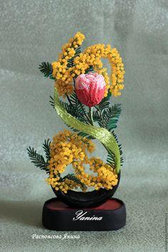 """Купить Букет из бисера """"8 марта"""" - подарок к 8 марта, подарок для любимой, подарок маме"""