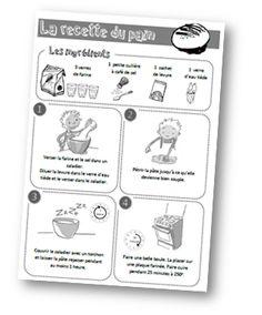 Type de textes: la recette du pain (semaine du goût)