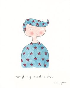 everything must match - Original Drawing by Marc Johns Disney Drawings, Art Drawings, Triangle Pattern, The Little Prince, Art For Art Sake, Character Inspiration, Character Ideas, Watercolor Paper, Original Artwork
