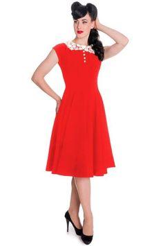 Hellbunny Emillie Dress Red