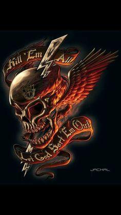Attitude,angels developed to the fullest Skull Tattoo Design, Skull Tattoos, Body Art Tattoos, Tattoo Designs, Dark Artwork, Skull Artwork, Skull Painting, Ghost Rider Wallpaper, Skull Wallpaper