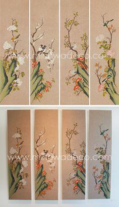 Contemporary Art, Embroidery, Illustration, Plants, Korean, Paintings, Flowers, Needlepoint, Korean Language