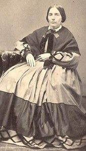 Lady from Aurora, IL in fancy dress outfit, wish this was in color