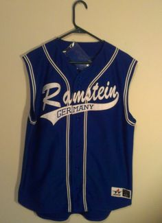 Rammstein Sonne Mens Large Blue Jersey W/Head Band #8 Rare