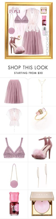 """""""Alerta rosa 🌹"""" by lcc-marianaheredia ❤ liked on Polyvore featuring Boohoo, Fragments, Givenchy, Jacquie Aiche, Hanky Panky, MSGM, EF Collection, Benefit and Stila"""