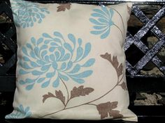 duck egg cushion cover from EllieBdesigns (etsy)