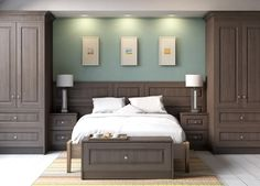 Vibrant Sage Green is the colour of the month. So here are a few examples featuring colours within this spectrum. Fitted Wardrobes | Fitted Bedrooms | Fitted Furniture | Fitted Studies