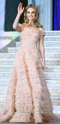 Lily James at Cinderella's Tokyo Premiere April 8th 2015