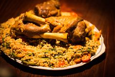 Lamb Shanks Slow Cooked in Spices. Slow Cooked Lamb Shanks, Red Chilli, Fennel Seeds, Coconut Cream, Couscous, Kung Pao Chicken, Paella, Chicken Wings, New Recipes
