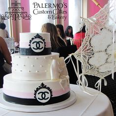 Parisian Themed Chanel Bridal Shower Cake | Palermo's Cake Bakery
