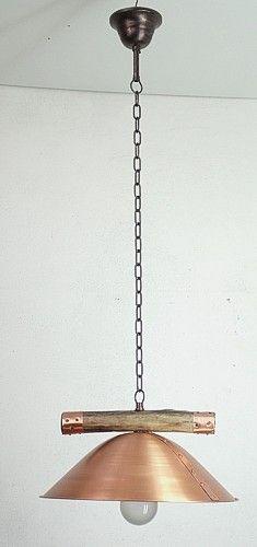 Hanging copper lamp