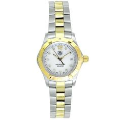 Women's Wrist Watches - TAG Heuer Womens WAF1425BB0814 Aquaracer Diamond Watch -- Check out the image by visiting the link.