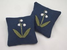 Embroidered Lavender Sachets Set of 2 Fine by FlowersForThought, $19.00