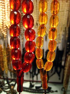 House of Amber, Chania - Transparent Faturan and Mastic Resins
