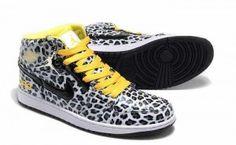 2013 Air Jordan I 1 Leopard Foot Locker For Men Grey Yellow