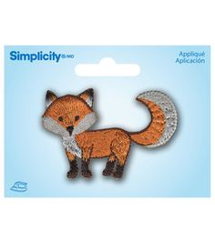 Cartoon Fox Applique  This would be super cute on a brown outfit.