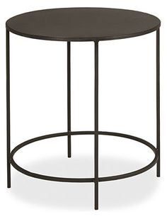 Slim Round End Tables in Natural Steel - End Tables - Living - Room & Board.  25r 24h End Table $219