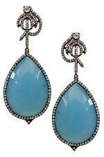 Tribebyamrapali-14k Gold Silver Diamond Sapphire Onyx Earrings