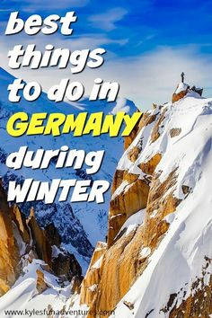 Looking for the best way to spend the winter season with your family in Europe? You'd surely love this list of best things to do in Germany during winter. Amazing Destinations, Travel Destinations, Winter Destinations, Travel Europe, Stuff To Do, Things To Do, Travel Vlog, Travel Tips, Family Weekend