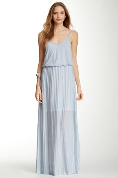Sheer Mitered Maxi Dress on HauteLook