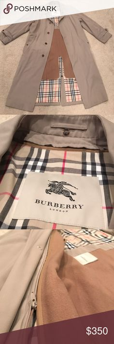 AUTHENTIC Burberry Men's Trench Coat Removable wool lining. Burberry London. Size: 40L. No belt Burberry Jackets & Coats Trench Coats