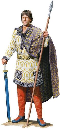 Magister Militum Flavius Aetius. Artwork by Tom Croft.