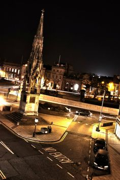 Our beautiful town at night...