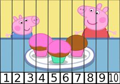 puzles de numeros pepa pig 1-10-5 Preschool Puzzles, Preschool Education, Preschool Activities, Life Skills Lessons, Teaching Life Skills, Teaching Babies, Vip Kid, Transitional Kindergarten, Number Puzzles