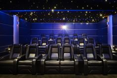 Need ideas for your next home technology project? Get inspired with our inspiration gallery, filled with home projects designed & installed by CEDIA members. Home Theater Setup, Home Theater Rooms, Home Theater Seating, Cinema Room, Home Technology, Technology Design, Home Cinemas, Surrey, Bar Stools