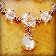 Golden crystal statement necklace, Swarovski necklace, gold statement neckace, sparkly necklace, bridal necklace, wedding jewelry, EBW