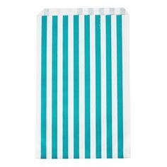 MyPaperSet - Papiertüten blaue Streifen von Meri Meri