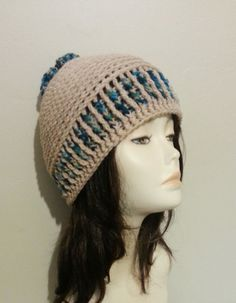 Chunky Crocheted Beanie Hat   Chunky Hat   Crochet by jazzicrafts ♡♡