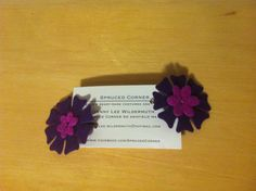 Purple and Mauve Hair Clip by SprucedCorner on Etsy
