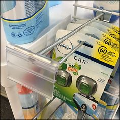 Rounding out a specialty display offering is this Febreze For Car By Flip Front Grid Hook. The recess designed specifically for Fabreze Car air freshener Car Air Freshener, Pos, Arches, Flipping, Grid, Retail, Display, Bows, Billboard