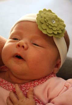 baby headband tutorial  I LOVE that it has a loop to add whatever kind of flower/clip you want to it! So versatile!
