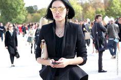 Tiffany Hsu and her shades. brills. #Thestreetfashion5xpro