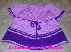 Artesanato de Dudis 2: Túnica de bebé em tricot/Knitting baby