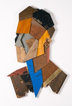 Belgian Artist Crafts Striking Portraits Using Found and Recycled Wood From Old Doors and Furniture Mister Mortimer