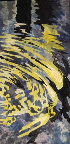 Barbara Schneider, Reflections Venice, hand dyed fabrics, Art Quilt