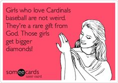 The more love for the STL Cardinals, the bigger the diamond!
