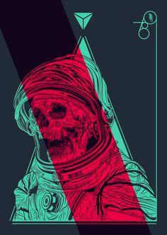 V e c t o r astronaut skull