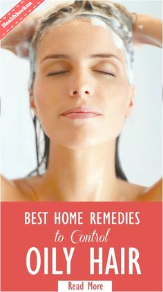 Home Remedies for Oily Hair: Oil on the scalp is necessary to keep the scalp healthy and to prevent damage to hair such as split ends and provide a good sheen. can cause dandruff and itching Oily Hair Remedies, Hair Remedies For Growth, Home Remedies For Hair, Hair Growth, Acne Remedies, Health Remedies, Natural Remedies, Armpit Rash, Armpit Lump