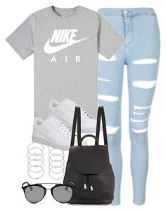 """""""Style #10916"""" by vany-alvarado ❤ liked on Polyvore featuring Topshop, NIKE, rag & bone and Christian Dior"""