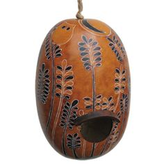 Owls in the Woods Gourd Bird House