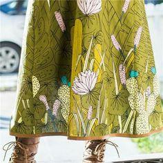 Green panel/border print from Sarah Watson's Bird's Eye View fabric line.