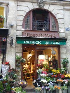 Flower shop on Ile Saint Louis. Paris.