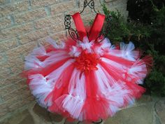 Beautiful Petti Tutu Dress, for toddlers aged Your little princess would look adorable in this stunning red and white candy-cane striped dress. The bodice of this dress is red, stretches to 25 i Christmas Tutu, Christmas Gifts For Girls, Christmas Clothing, White Christmas, Christmas Holiday, Holiday Gifts, First Birthday Dresses, Birthday Tutu, Girls Pageant Dresses