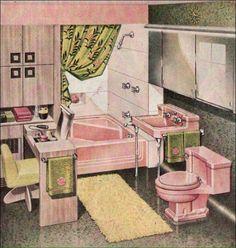 1950 pink bathroom